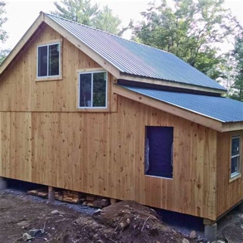 Shed Roof Extension by Kits For 20 X 30 Timber Frame Cabin Jamaica Cottage Shop