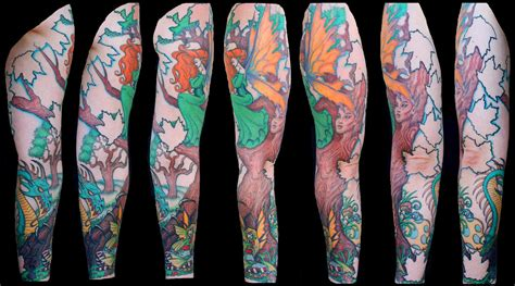 enchanted dragon tattoo enchanted forest sleeve 3 by beautifuldragon322 on