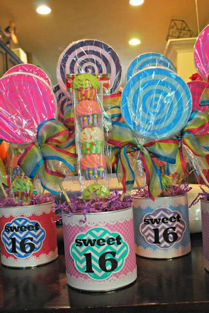 Up On Tippy Toes Sweet 16 Candy Centerpieces