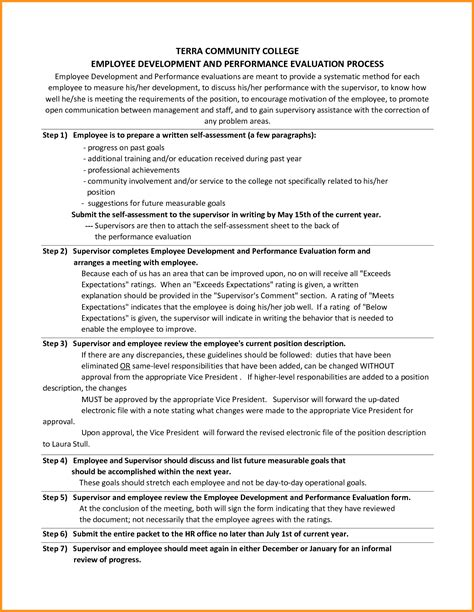 Appraisal Letter For Project Manager 5 Self Appraisal Exles Cook Resume