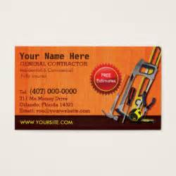 construction business card templates free handyman business cards templates zazzle