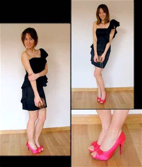 vestidor wordreference con vestido vestido negro zapato fucsia fucsia 4q7rx