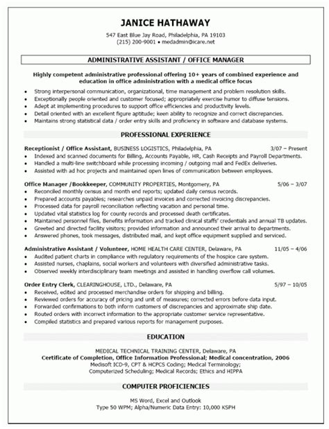 Resume Exles For Office Manager Position Office Manager Description Sles Thevictorianparlor Co