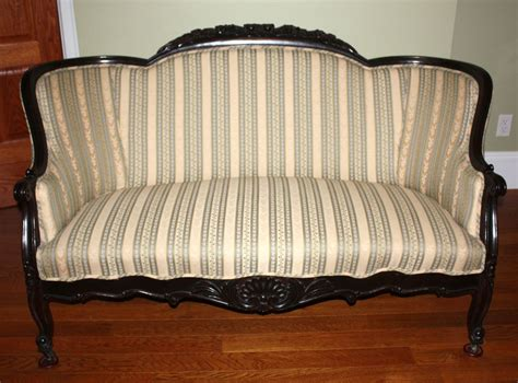 upholstered settee loveseat victorian newly upholstered settee love seat sofa w