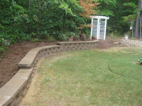 Retaining Wall Installation Segmental Concrete Retaining Wall Installation Mcplants