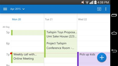 outlook calendar android outlook for android comes out of preview office blogs