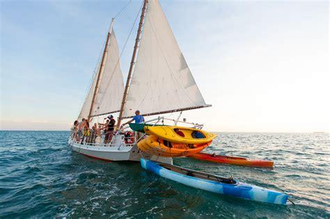 kayak boats sail snorkel sail kayak danger charters