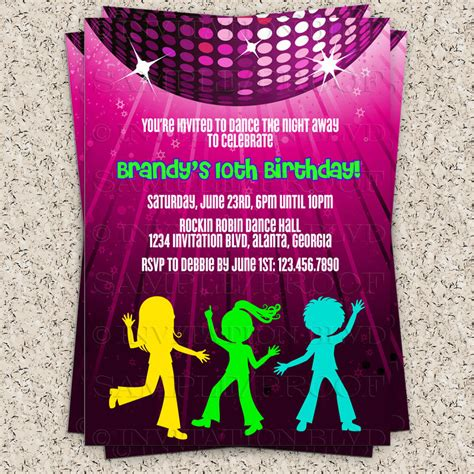 dance party invitation hip hop dance party by invitationblvd