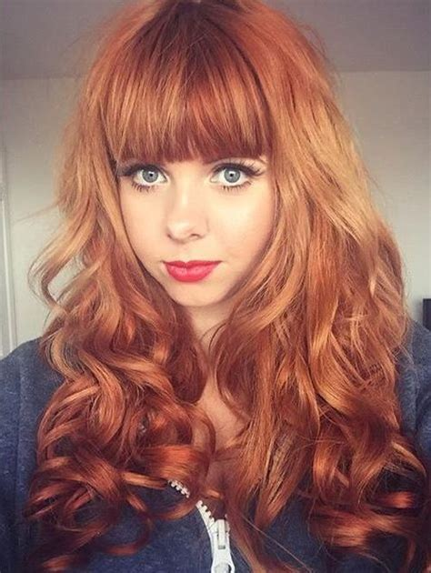 best hair red hair doos 2015 25 best ideas about red hair bangs on pinterest full
