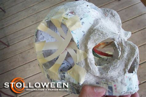 How To Make Paper Mache Skulls - how to ancient skulls stolloween
