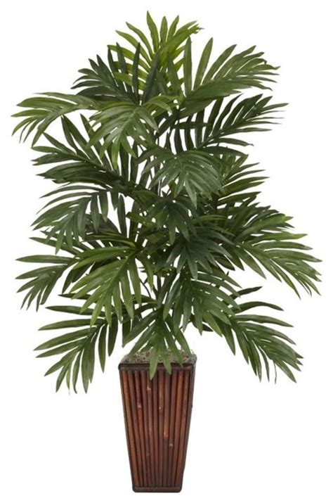 silk plants areca palm with bamboo vase silk plant green asian