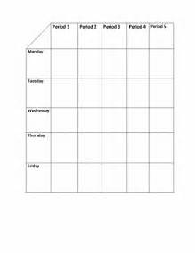 class timetable template sample format
