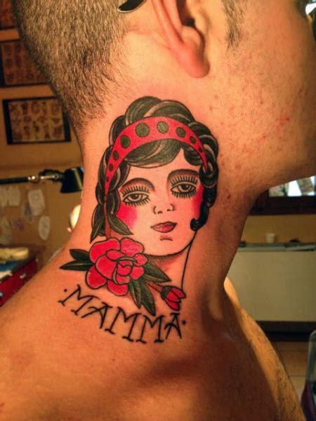 tattoo old school mujer tatuaje old school mujer cuello por adrenaline vancity