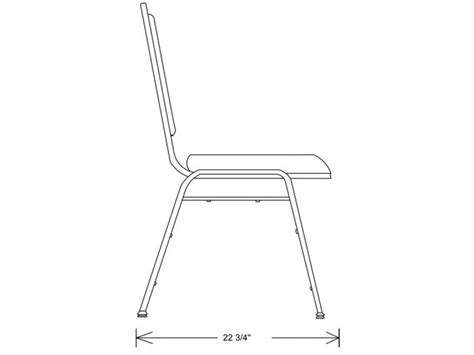 chair side view drawing dome back vinyl stacking chair bsc 9200 stacking chairs