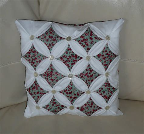 Patchwork Cathedral Window - cathedral window cushion dennis