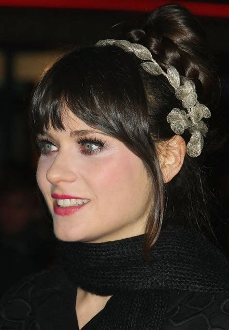 images of black braided bunstyle with bangs in back hairstyle zooey deschanel long hairstyle braided bun with bangs