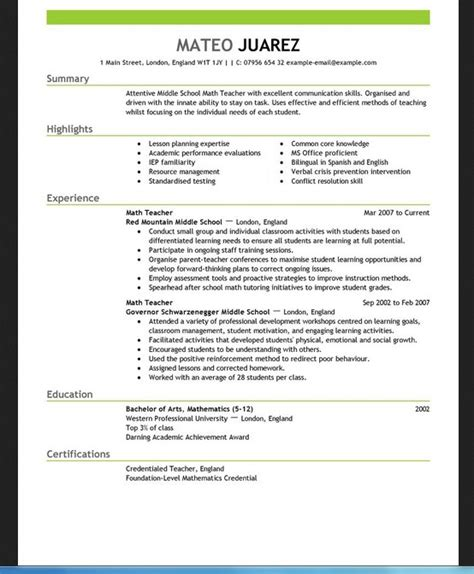 microsoft word resume templates for teachers free blank resume templates for microsoft word template