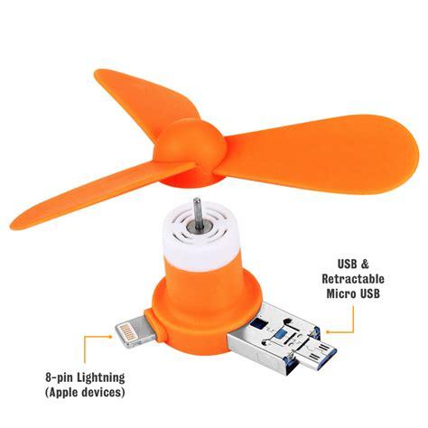 Usb Type C Mini Portable Usb Fan For Smartphone Green Murah 4 in 1 portable usb mini fan attachment for phones orange