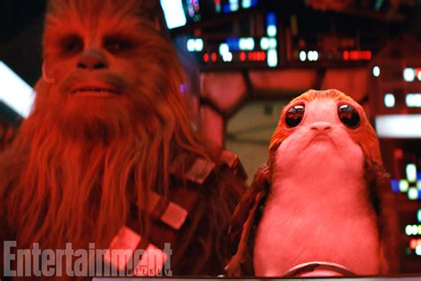 wars the last jedi chewie and the porgs books chewbacca will be quot volatile quot in wars the last jedi