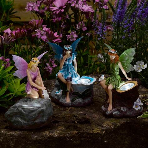 solar fairy lights outdoor novelty solar garden lights statues