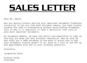 Sales Letter Template by Sle Sales Letter 3000