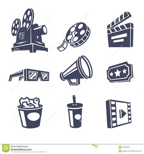 Icon Cinema Gift Card - cinema icons stock vector image 47855200