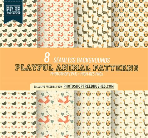 cute pattern photoshop download cute animal pattern backgrounds photoshop free brushes
