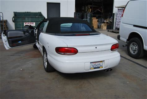 Chrysler Sebring Convertible Seat Covers by Chrysler Sebring Convertible 1995 2010 Iggee S Leather