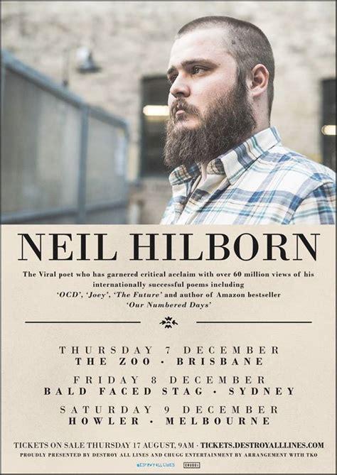 Neil Hilborn Also Search For Neil Hilborn Announces Australian Tour The Rockpit