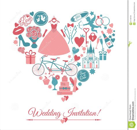 Wedding Illustration by Vector Wedding Illustration Stock Vector Image 51749734