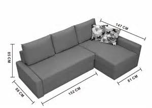 multi function fabric corner sofa bed with storage my098