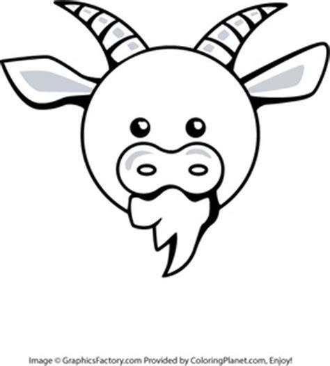 goat head coloring page cartoon goat head www pixshark com images galleries