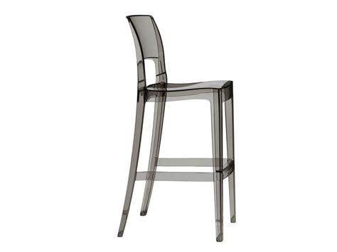 sedia alta sedia alta da giardino impilabile in policarbonato isy