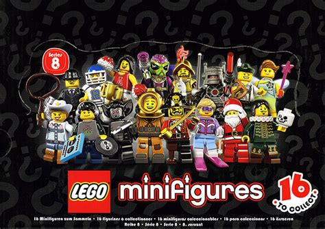 Lego 8833 Minifigures Serie 8 Complete Set 16 Pcs 8833 18 lego minifigures series 8 sealed box brickset lego set guide and database