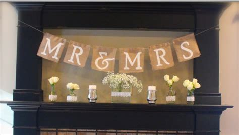 Rustic Wedding Banner by How To Make A Mr Mrs Burlap Banner Rustic Wedding Chic