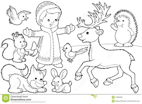 christmas fox coloring page christmas coloring page royalty free stock photos image