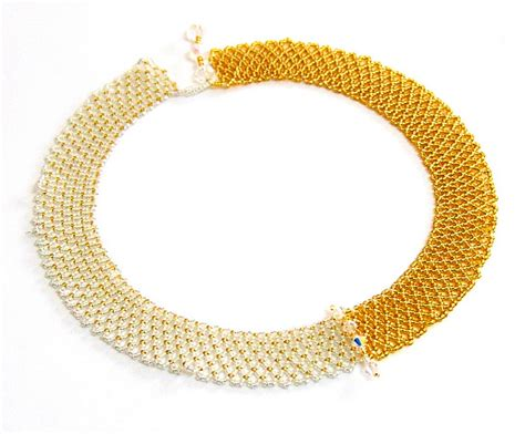 pattern of gold necklace free pattern for beaded necklace gold beads magic