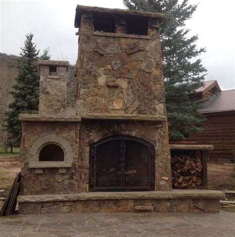stone house pizza a beautifully crafted outdoor fireplace with natural stone