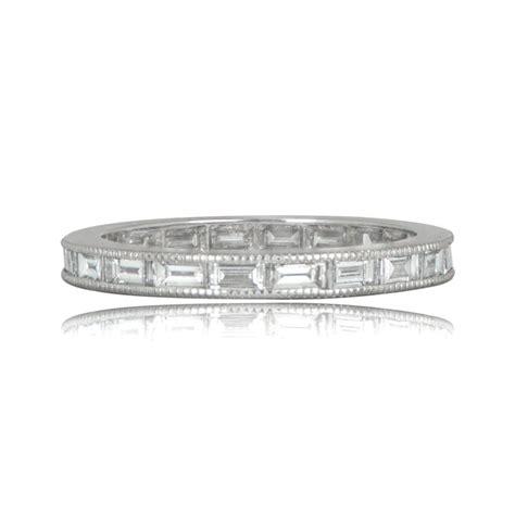 Wedding Bands Baguette Diamonds by Baguette Cut Wedding Band Channel Set