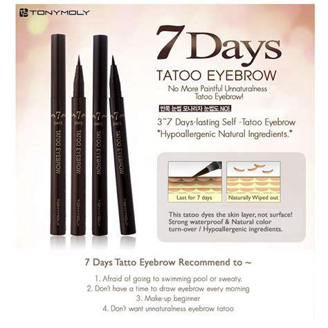 eyebrow tattoo pen reviews amazon com korean cosmetic tonymoly 7days long last