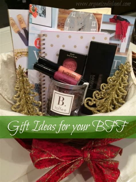gift ideas for your bff organized island
