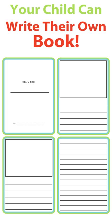 make a book template story templates to get writing the trip clip