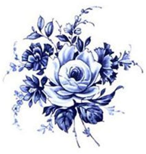 ceramic decals vintage style flower floral bunch design ebay illustration of hand drawn china blue peony bouquet