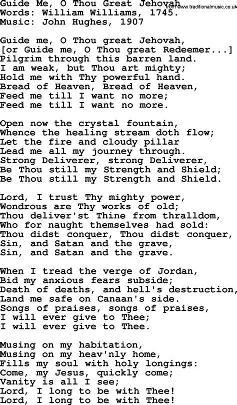 guide me o thou great redeemer wedding hymn wedding hymns and songs guide me o thou great jehovah