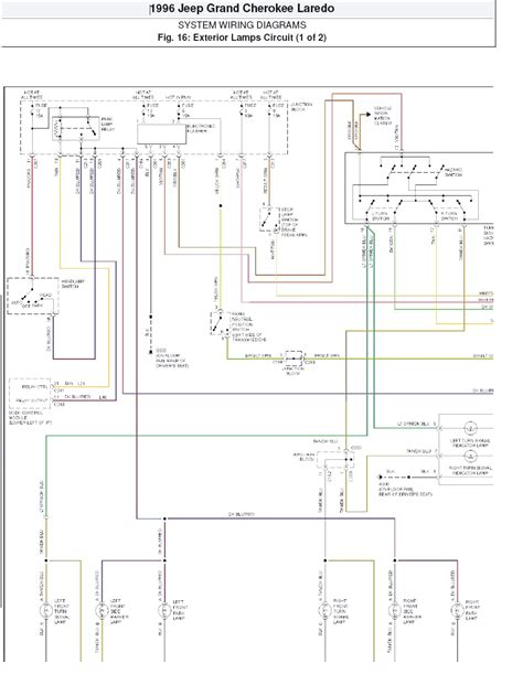 jeep grand wiring harness diagram wiring