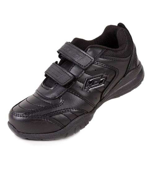 velcro school shoes lotto black velcro school shoes buy rs snapdeal