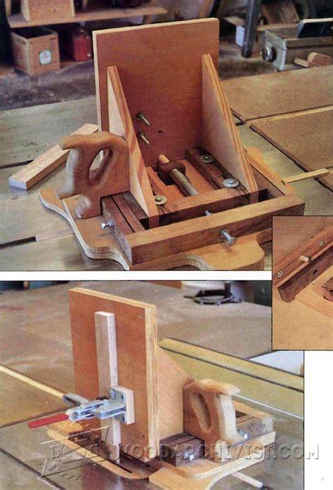 advanced woodworking plans advanced tenon jig plans woodarchivist