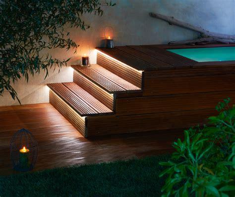eclairage marche escalier exterieur escalier d ext 233 rieur en bois modulesca escalier d