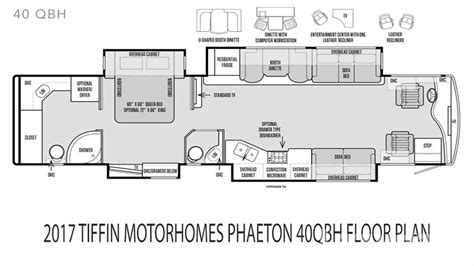 tiffin rv floor plans 2017 tiffin motorhomes phaeton 40qbh for sale in ta fl
