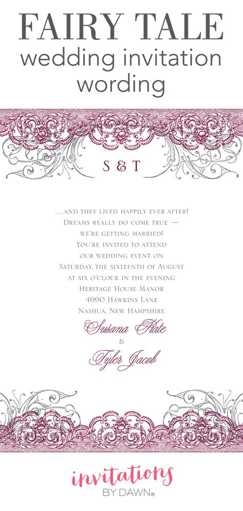 E Wedding Invitation Wording by Tale Wedding Invitation Wording Invitations By